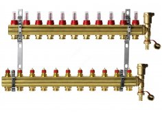 Коллекторная группа DANFOSS FHF-F set с клапанными вставками и расходомерами