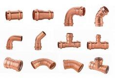 Медные фитинги для отопления, водоснабжения и кондиционирования под пресс