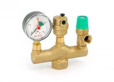 Клапана предохранительные, подпиточные и редуктор давления Uni-Fitt