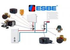 Автоматика, термостаты и системы управления котлами ESBE (Швеция)
