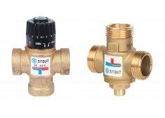 Термостатический смесительный клапан для систем отопления и ГВС STOUT