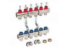 Коллекторная группа с расходомерами и термостатическими вентилями Uni-Fitt