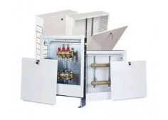 Шкаф распределительный коллекторный для радиаторного отопления и тёплый полов