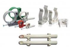 Пластиковый крепёж, клипсы, хомуты и фиксаторы для труб