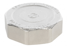 Заглушка латунная никелированная ВР Stout