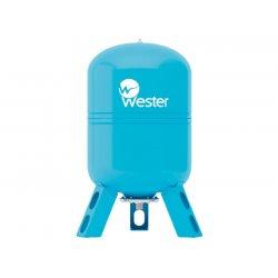 Бак гидроаккумулятор для водоснабжения вертикальный Wester 50 л, WAV50 10 бар/110°C, (сменная мембрана)