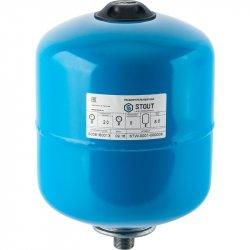 Бак гидроаккумулятор вертикальный для водоснабжения STOUT 8 л