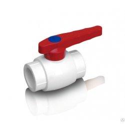 Кран шаровый для горячей воды PPR Fusitek 50, белый