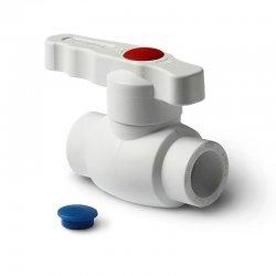 Шаровой кран PPR Pro Aqua 32 мм, белая