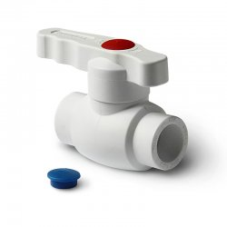 Кран шаровой полнопроходной PPR Ultra 40 мм, белый, Pro Aqua PA40014 купить в Твери