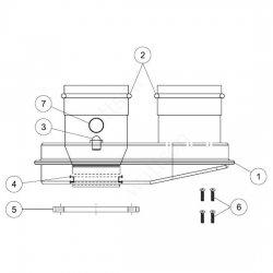 Адаптер дымохода двухканальный PROTHERM 80/80 для котлов Рысь, Ягуар