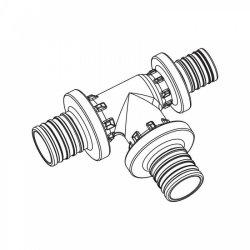 Тройник с уменьшенным торцевым проходом для труб из сшитого полиэтилена аксиальный 20-20-16PXRAUTITAN REHAU 11600711001 купить в Твери