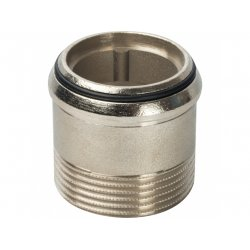 """Разъемное соединение угловоелатунное никелированное """"американка"""", уплотнение под гайкой o-ring кольцо, ВР-НР 3/4"""" Stout SFT-0057-000034 купить в Твери"""
