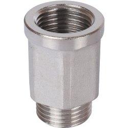 """Удлинитель шестигранный никелированный ВР-НР 1/2"""" х 1/2"""" Stout SFT-0055-001212, купить в Твери"""