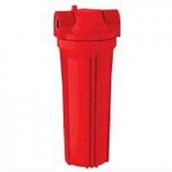 """Фильтр магистральный для горячей воды Aquatech Water Technology  FMR12 1/2"""" (красный корпус 10"""")"""