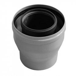 Коаксиальный переходник с диаметра 80/125 мм на диаметр 60/100 мм. Baxi