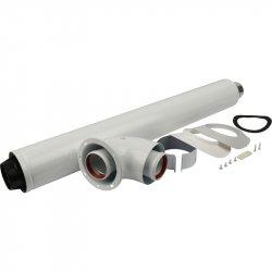 Комплект коаксиального дымохода STOUT 60/100, L=850 мм (совместим Bosch) SCA-6010-240850 низкая цена, купить в Твери