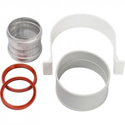 Элемент дымохода для соединения труб DN60/100, м/м соединительная муфта с уплотнением, хомут с муфтой EPDM в комплекте, STOUT SCA-6010-000002 низкая цена, купить в Твери