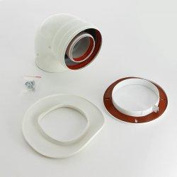 Коаксиальный отвод 90° DN60/100 для начального участка для котлов ECO Classic и ECO NOVA, Baxi