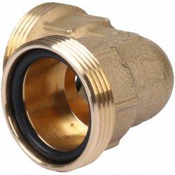 Угольник компрессионный латунный для ПНД труб 32 мм, Tiemme 3400003купить в Твери