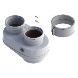 Адаптер для подключения раздельных труб выполнен из метала BAXI