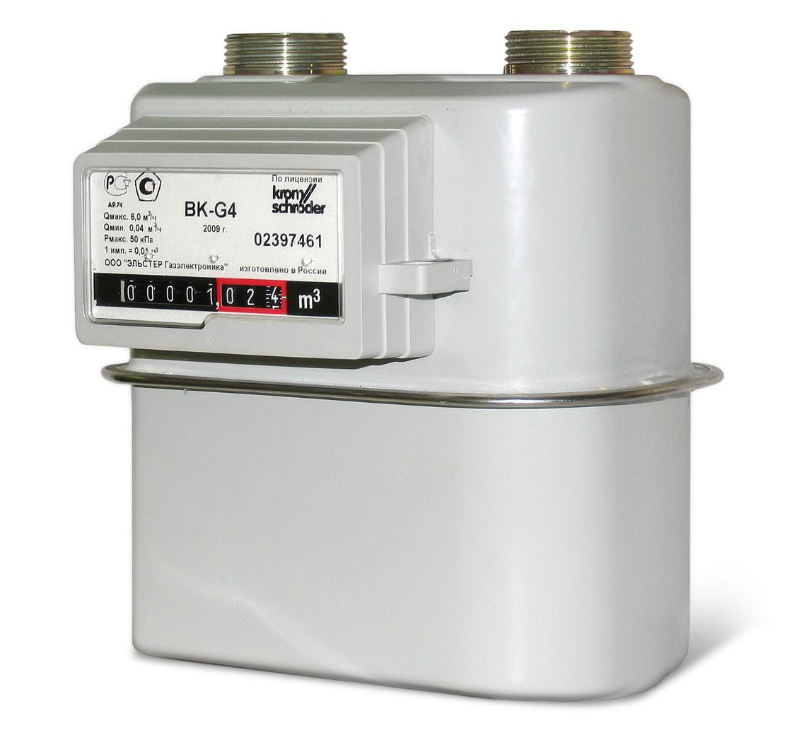 Бытовой диафрагменный счётчики газа ВК-G4