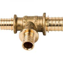 Тройник аксиальный переходной для труб из сшитого полиэтилена 20х20х16 STOUT SFA-0014-202016, купить в Твери
