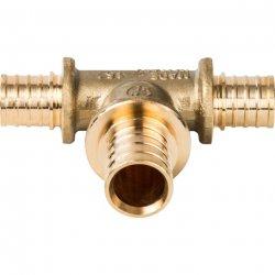 Тройник аксиальный равнопроходной для труб из сшитого полиэтилена 25х25х25 STOUT SFA-0013-000025, купить в Твери