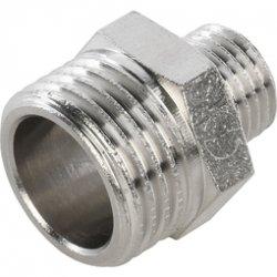 Ниппель переходной латунный никелированныйНР 3/8 х 1/4 Stout SFT-0004-003814 купить в Твери