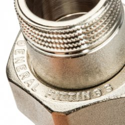 """Разъемное соединение латунное никелированное """"американка"""", уплотнение под гайкой по плоскости, ВР-НР 1 1/4"""" Stout SFT-0045-000114, купить в Твери"""