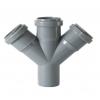 Крестовина одноплоскостная для внутренней канализации ПП 50x50x50/45°, Синикон
