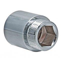 Удлинитель латунный никелированный VALTEC, 1/2''x 40 мм