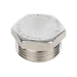 """Заглушка никелированная НР 1/4"""" Stout SFT-0025-000014, купить в Твери"""